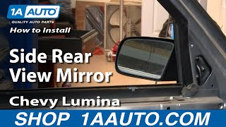 How To Install Replace Side Rear View Mirror Chevy Lumina