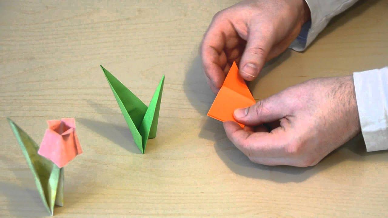 Тюльпан оригами и схемы в подробном фото-видео мастер-классе