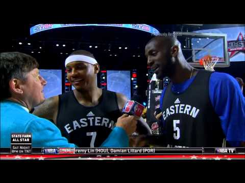 Kevin Garnett & Carmelo Anthony make fun of Craig Sager's suit