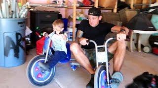 DAD vs KIDS!! Drifting & Camping