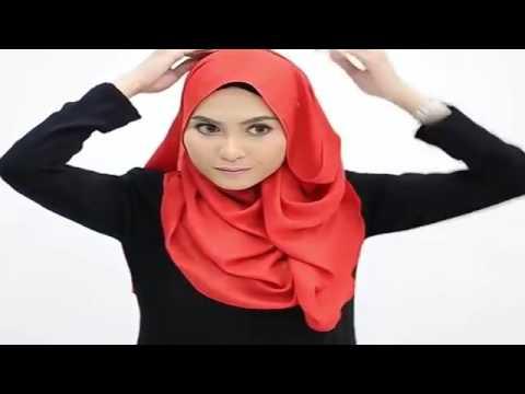 Video Cara Memakai Jilbab Segi Empat Modern 2016 yang unik