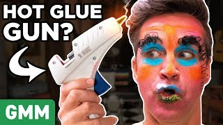 Hot Glue Gun Makeup Challenge
