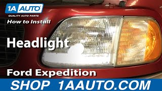 How To Install Replace Headlight Ford F150 Expedition 97
