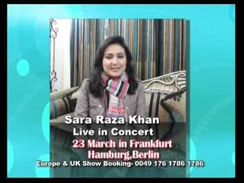 Sara Raza Khan Europe Tour 2014 in March ARY Digital Media Partner