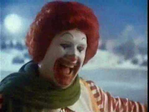 McDonalds 80's Christmas Commercial Ice Skating, Ronald Mcdonald teaches a boy to ice skate with the help of some Bambi like animated characters. Find more Mcdonalds spots including Mcdonaldland by checking...