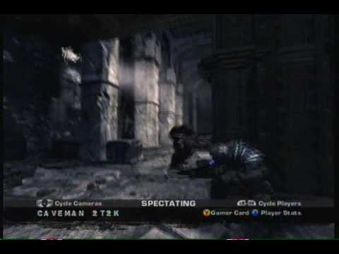 1v1 Gears of War Sniper Tourny CaVeMaN 2T2K vs  KRiSis (Nasty/Funnny Superman) MUST WATCH