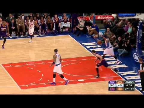 Knicks matador D, Dragic layup - 2014.01.13