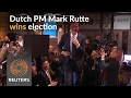 Dutch PM scores election victory against anti-EU Wilders