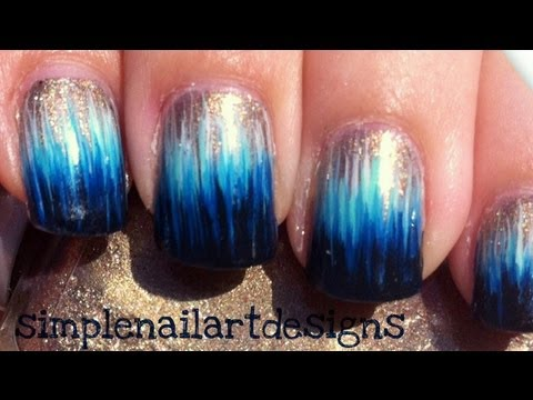 Ombre Sunset Forest Nail Art Nails Video