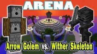 Minecraft Arena Battle Arrow Golem vs. Wither Skeleton