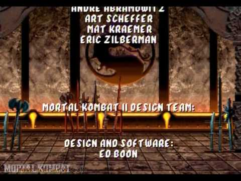 Mortal Kombat 2 - Saturn - Credits
