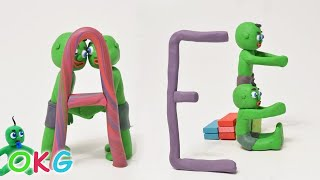 Baby Hulk Twins Learn the Alphabet Play Doh Kids Educational Stop Motion Movies