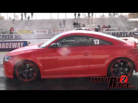 Supra vs Audi TTRS drag race