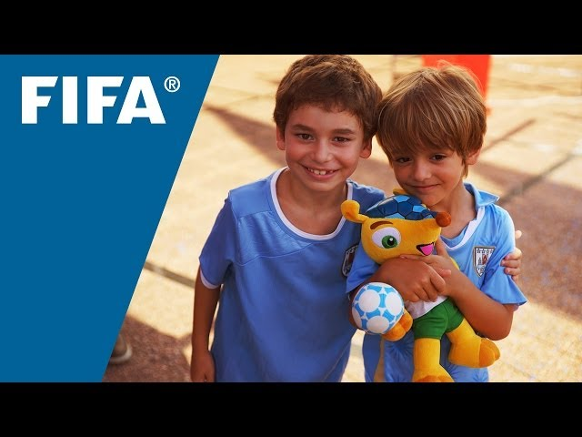 FIFA World Cup Trophy is revealed in Uruguay