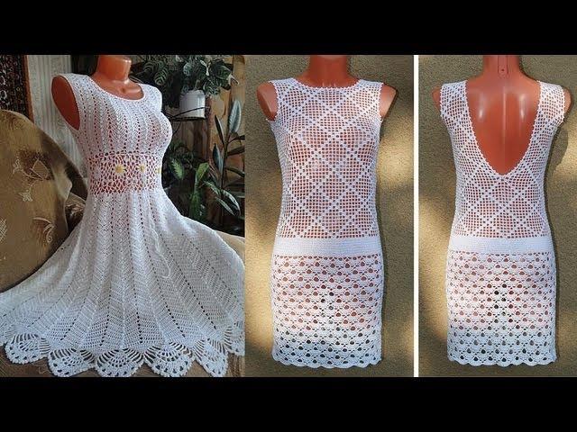 Платье вязанное крючком для 6 месяцев