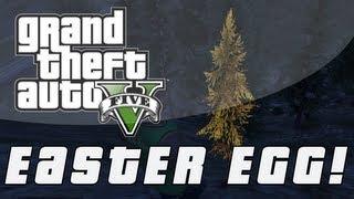 Grand Theft Auto 5 Secret Golden Tree Easter Egg! (GTA V