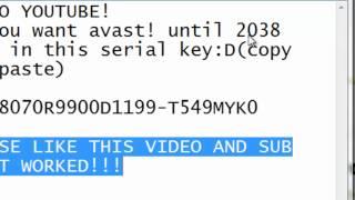 Avast 25 Serial Keys Till 2038!!(BEST ONE!)