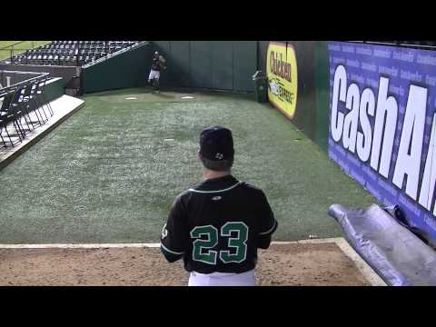 Drew Davis 2015    Warming in the bullpen @ Texas Rangers Ballpark Feb 17, 2014