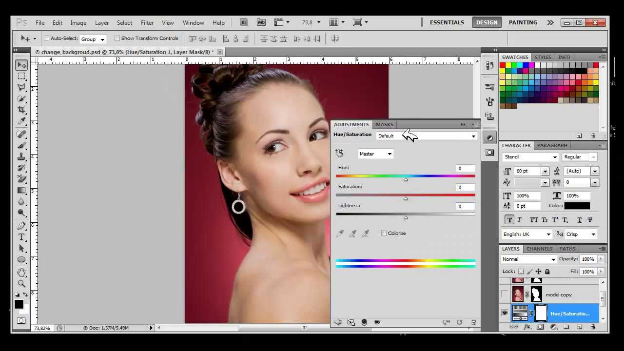 How To Change Background Color With Photoshop Cs4 Cs5 Cs6