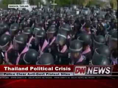 กำนันสุเทพ Thailand Protests Riot Police Clear Protest Sites