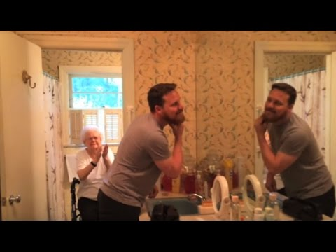 Shaving His Beard For Grandma's 100th Birthday