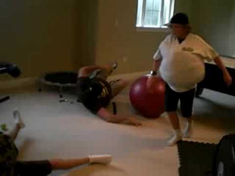 Fat Man's Work-Out - YouTube