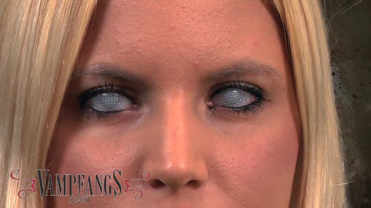 White Mesh Fx Contact Lenses Youtube