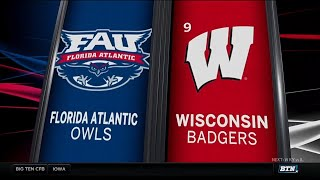 Florida Atlantic at Wisconsin - Football Highlights