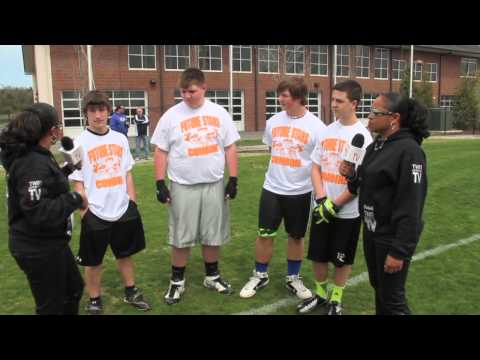TwinSportsTV: interview with the 6th & 7th Grade Lineman and Line Backers