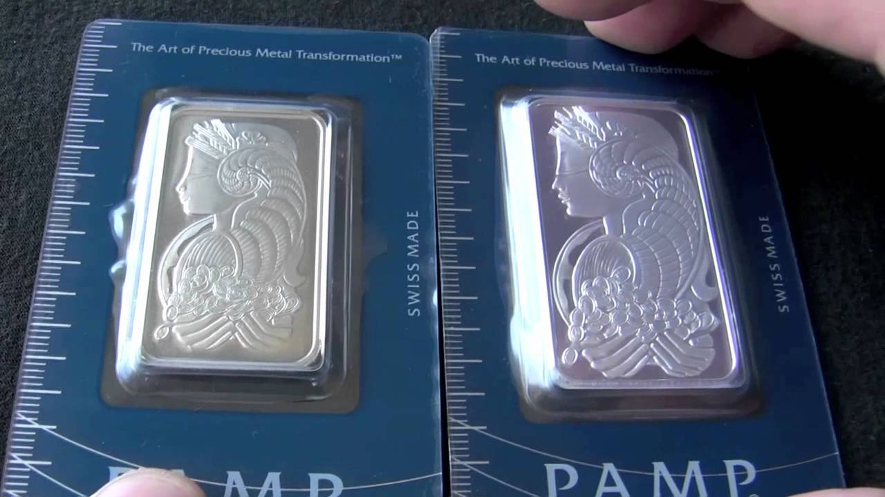 Pamp Suisse Bars Which One Is Silver Youtube