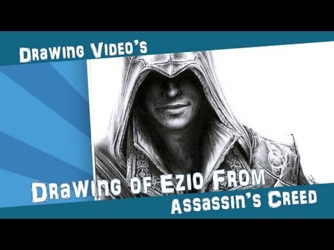 Drawing of Ezio from Assassins Creed II