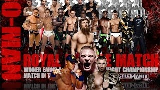 WWE Royal Rumble 2014 Preview & Predictions / WrestleSweep Contest Final List.