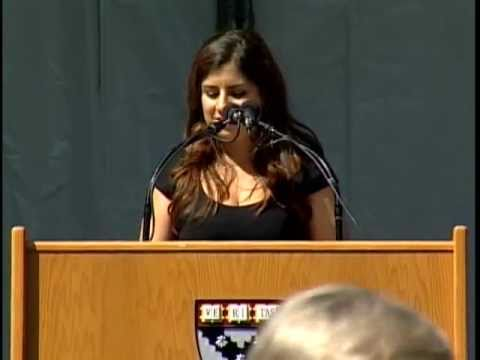 Harvard Business School Class Day 2011 student speaker Jacqueline Sandberg