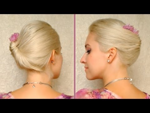 Short hair updo tutorial for work/office Gibson tuck for medium long hair