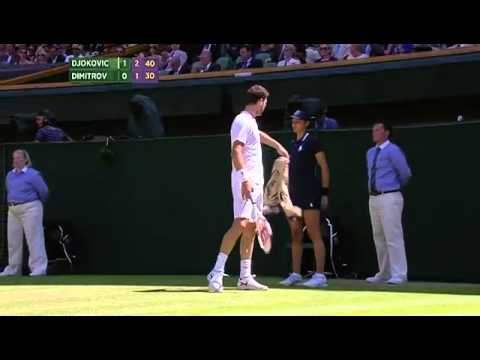 Grigor Dimitrov superb drop shot - Wimbledon 2014