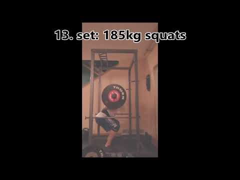 Night training session at home (HSPU, 185kg squats, front lever, 40 pullups..)