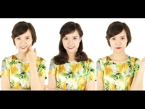 3 kiểu tóc tết xinh xắn cho tóc ngang vai