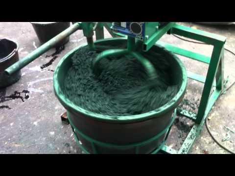Смешивание компонентов резинового покрытия