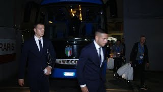 Italia-Ucraina: l'arrivo degli Azzurri allo stadio Ferraris