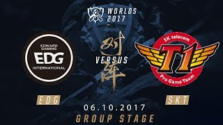 [06.10.2017] EDG vs SKT [Group Stage][CKTG2017][Bảng A]