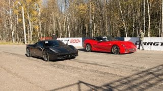 Ferrari 599 GTO (Stock) vs Ferrari 458 Italia (Stock)
