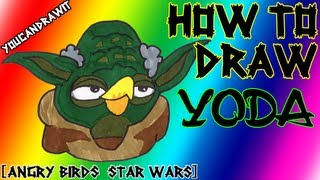 How To Draw Yoda From Angry Birds Star Wars 1&2