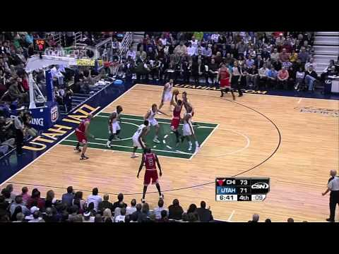Derrick Rose Highlights vs Utah Jazz 2/9 720p HD