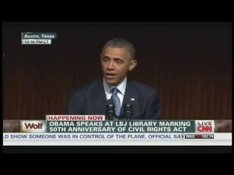 President Obama Civil Rights Summit Speech LBJ Library Austin Texas (April 10, 2014) [1/3]