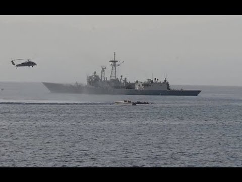 MEDITERRANEAN SEA!  USS Bataan and Elrod Rescue 282 People from Sinking Ship!