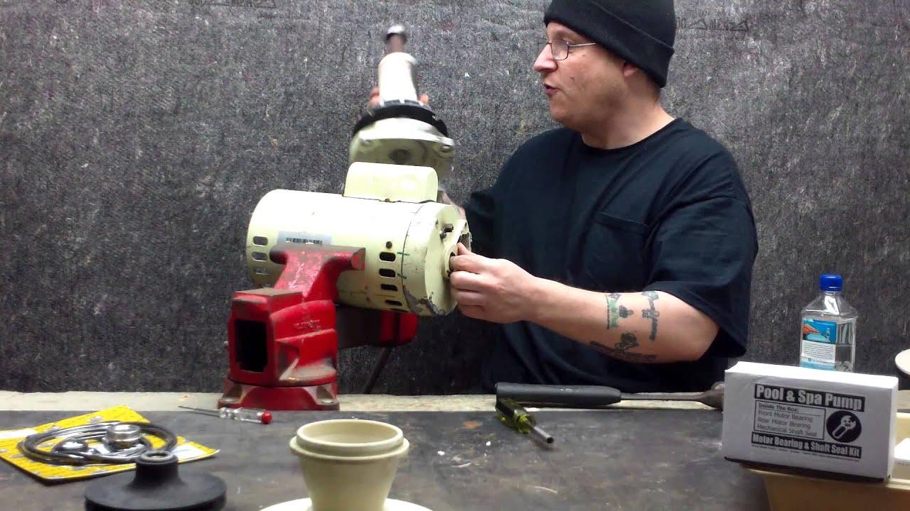 Pentair Whisperflo Wf 28 Pool Pump Motor Rebuild Part 0037 Youtube