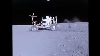 LRV On The Moon Apollo 16 HD Video Stabilized