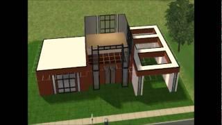 Los Sims 2: Construcción De Casa Moderna: CUBO COFFEE
