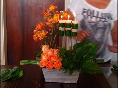 Como fazer um lindo Arranjo Floral para festas