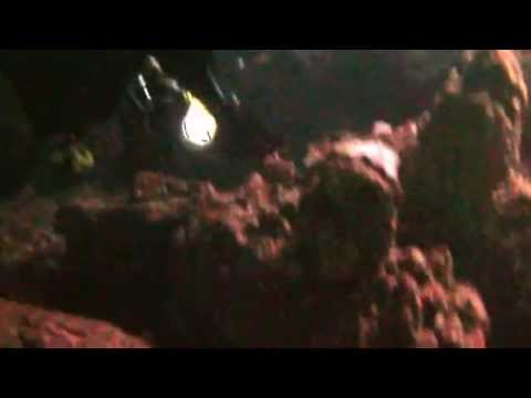 Cyprus, diving into caves under the seabed at Agia Napa with  Viking Divers